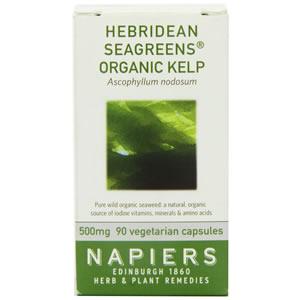 Napiers Hebridean Seagreens Organic Kelp Capsules 90 Capsules